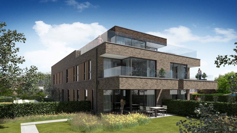Render moderne Residentie Bigardis in Groot-Bijgaarden
