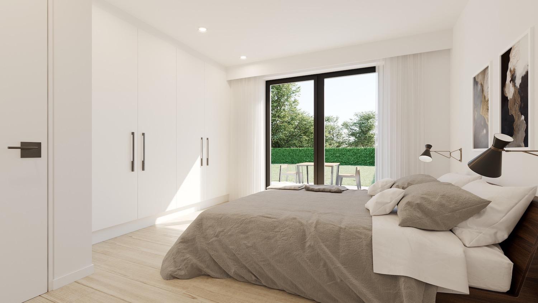 Render slaapkamer strakke nieuwbouw residentie