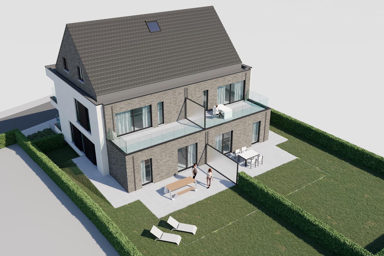 Render bovenaanzicht strakke nieuwbouw residentie